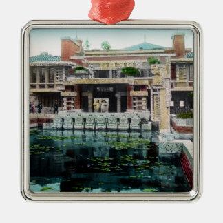 Frank Lloyd Wright Imperial Hotel Japan Vintage Metal Ornament