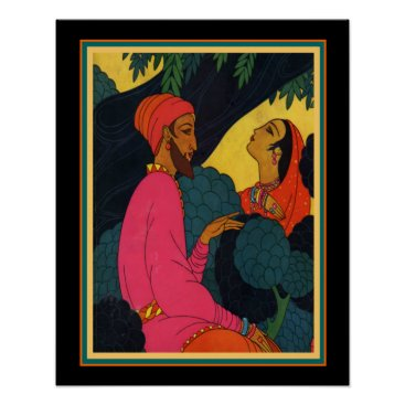 Art Themed Frank Mackintosh Asian Art Deco Print 16x20
