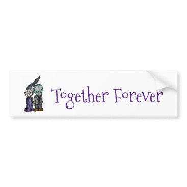 Halloween Themed Frank-n-Bride Bumper Sticker