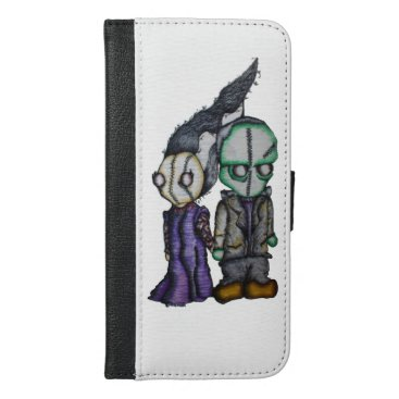 Halloween Themed Frank-n-Bride iPhone 6/6s Plus Wallet Case
