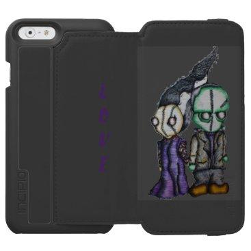 Halloween Themed Frank-n-Bride iPhone 6/6s Wallet Case