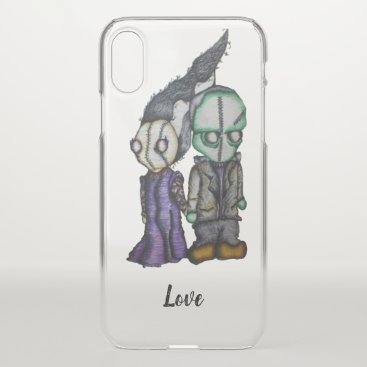 Halloween Themed Frank-n-Bride iPhone X Case