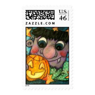 Frank 'n Jack Halloween Postage Stamp