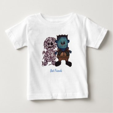Halloween Themed Frank-n-Pal Baby T-Shirt