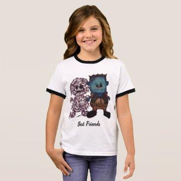 Halloween Themed Frank-n-Pal Ringer T-Shirt