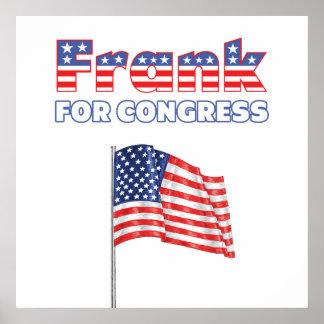 Frank para la bandera americana patriótica del con póster