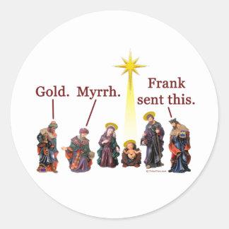 Frank Sent This Round Sticker