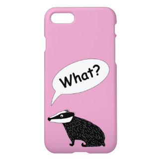 Frank the badger,  animal character happy colours iPhone 7 case