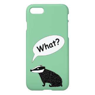 Frank the badger, character for iPhone7 green iPhone 7 Case