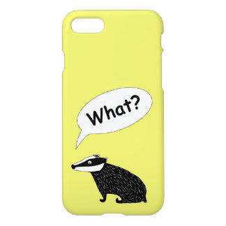 Frank the badger character iPhone case yellow