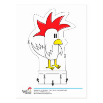 Frank the Chicken - Cut Out Postcard