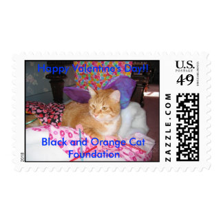 Frank the Cupid Cat Postage Stamp