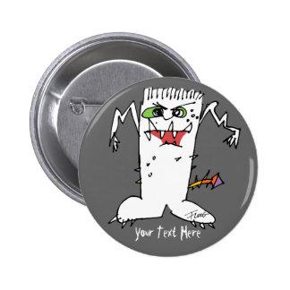 FrankEinstein Cartoon Monster Button