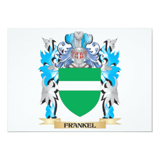 Frankel Coat of Arms - Family Crest 5x7 Paper Invitation Card