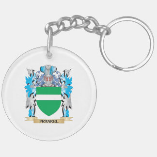 Frankel Coat of Arms - Family Crest Double-Sided Round Acrylic Keychain