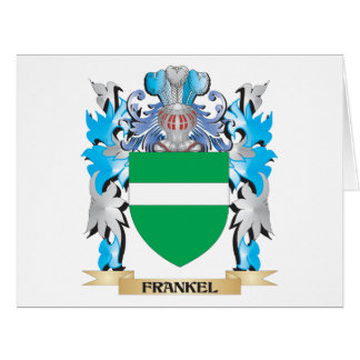 Frankel Coat of Arms - Family Crest Large Greeting Card