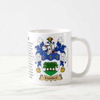 Frankel, the Origin, the Meaning and the Crest Classic White Coffee Mug