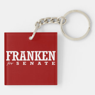 FRANKEN FOR SENATE 2014 Double-Sided SQUARE ACRYLIC KEYCHAIN