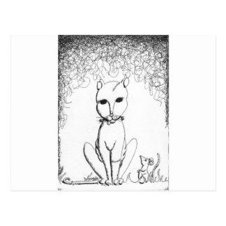 Franken Kitty Postcard