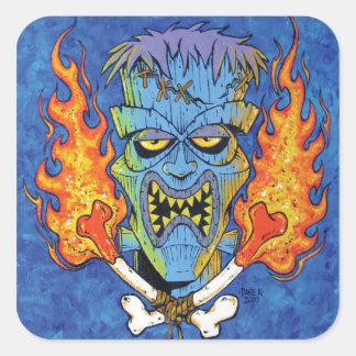 Franken-Tiki Square Sticker