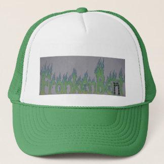 Frankenbent flaming logo hat! trucker hat