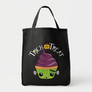 Frankencake - bolso lindo del truco o de la bolsa tela para la compra