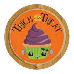 Frankencake - Cute Halloween Trick or Treat Round Cheese Board