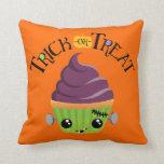 Frankencake - Cute Halloween Trick or Treat Pillow