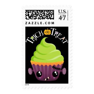 Frankencake Trick-Or-Treat Halloween Postage