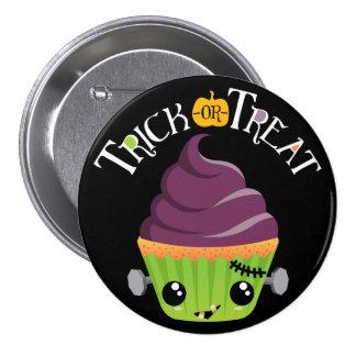 Frankencake - truco o invitación lindo Halloween Pin