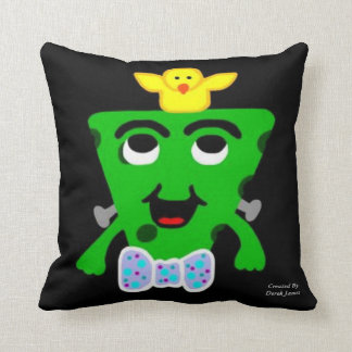 FrankenCheese Easter Square Throw Pillow
