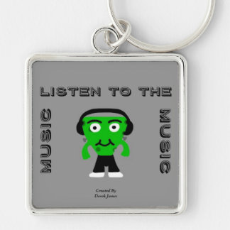 FrankenCheese Listen To The Music Square Key Chain