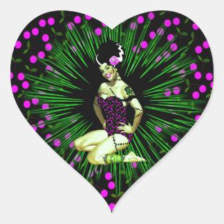 FrankenCherry Heart Sticker