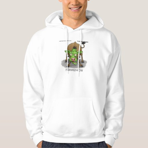 """""""FrankenCow"""" Funny Halloween Gifts & Collectibles Hooded Pullovers"""