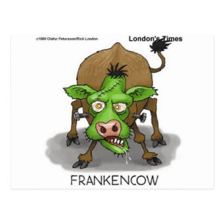 """FrankenCow"" Funny Halloween Gifts & Collectibles Postcard"