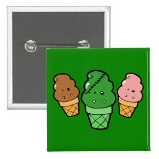 Frankencream Monster Ice Cream Cones Pinback Buttons