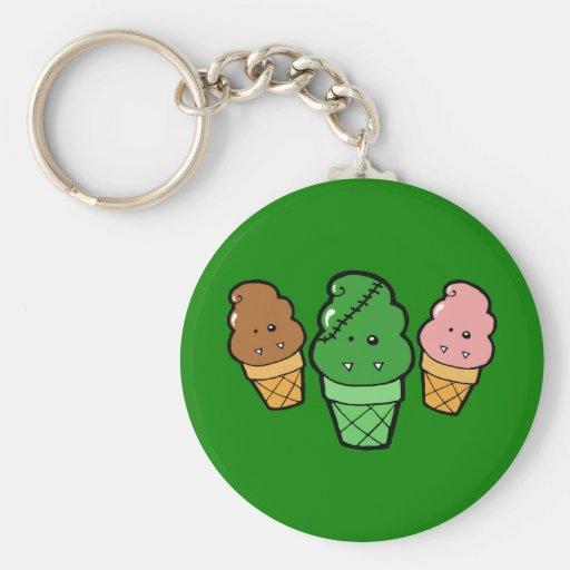 Frankencream Monster Ice Cream Cones Keychain