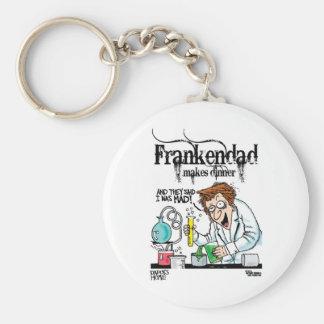 Frankendad Basic Round Button Keychain