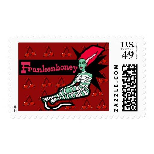 Frankenhoney Bride of Frankenstein Postage