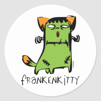 FrankenKitty Round Stickers