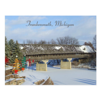 Frankenmuth Covered Wooden Bridge Michigan Post Cards