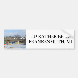 Frankenmuth Michigan Covered Bridge Car Bumper Sticker