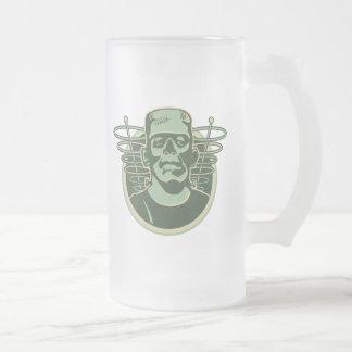 frankenstein2 16 oz frosted glass beer mug