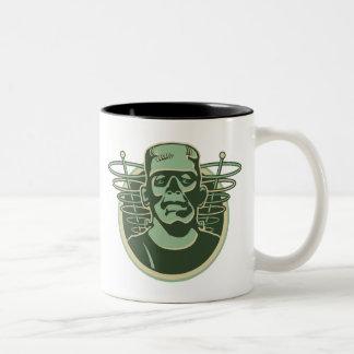 frankenstein2 Two-Tone coffee mug