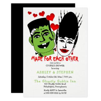 Frankenstein and Bride  Couple's Wedding Shower Card