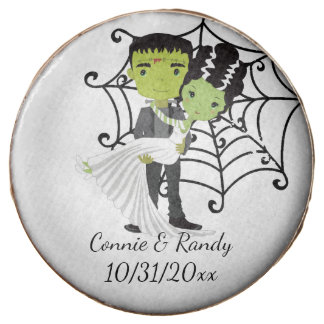 Frankenstein and Bride Dipped Oreo Cookie
