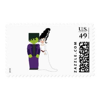 Frankenstein And Bride Postage