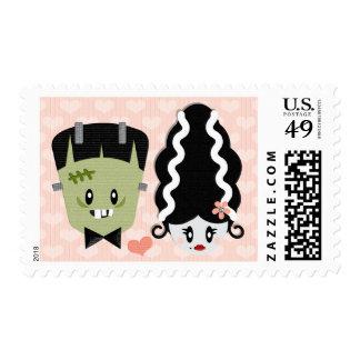 Frankenstein and Bride Postage Stamps