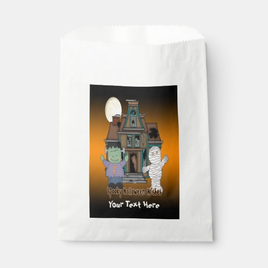 Frankenstein and Mummy Halloween Favor Bag