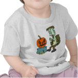 Frankenstein asustado camisetas